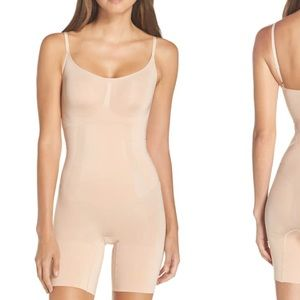 Spanx Oncore mid thigh bodysuit size L